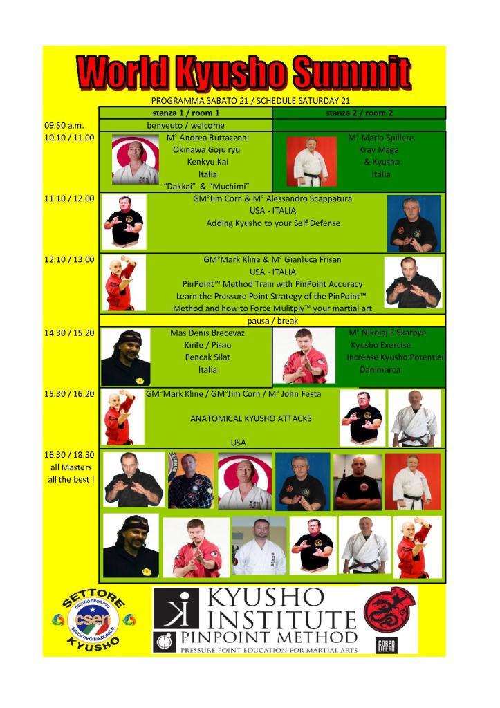 schedule sabato 21 novembre